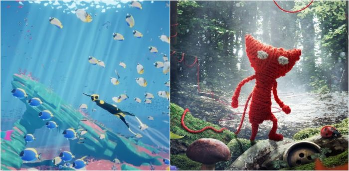 unravel, abzu, PS+, March 2017