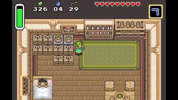 Pictures of Mario Can be Found in houses in A Link to the Past