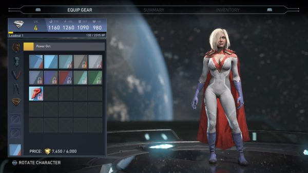 injustice 2, skins, characters, power girl