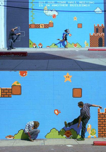 gaming, street art