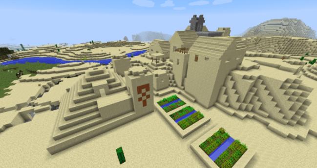Desert Temple and Village
