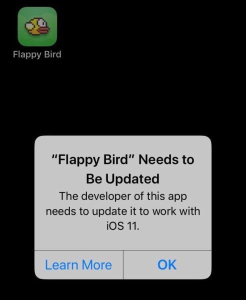Flappy Bird Won't Be Compatible on iOS 11