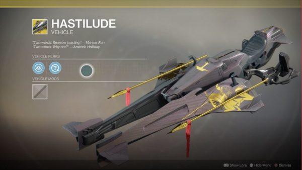 destiny 2, exotic sparrows