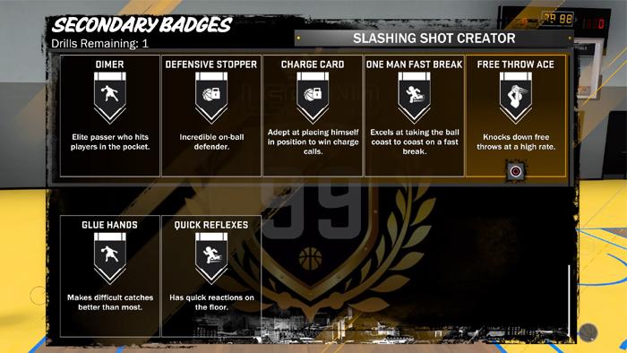 NBA 2K18 Badges