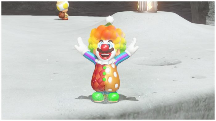 mario odyssey clown