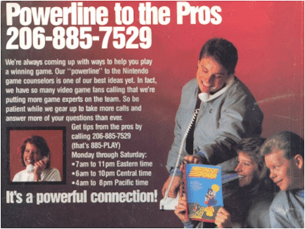 Nintendo Power Line