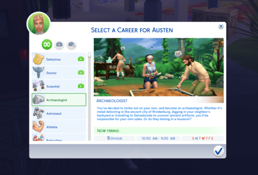 sims 4 archaeologist