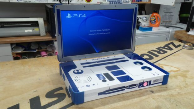 R2-D2 Laptop-Style PlayStation 4 (Playbook 4)