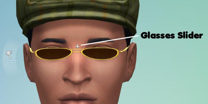 glasses slider, slider, mods, sims 4