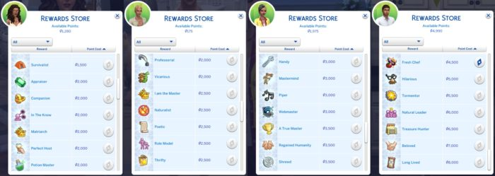 rewards store, mod, sims 4