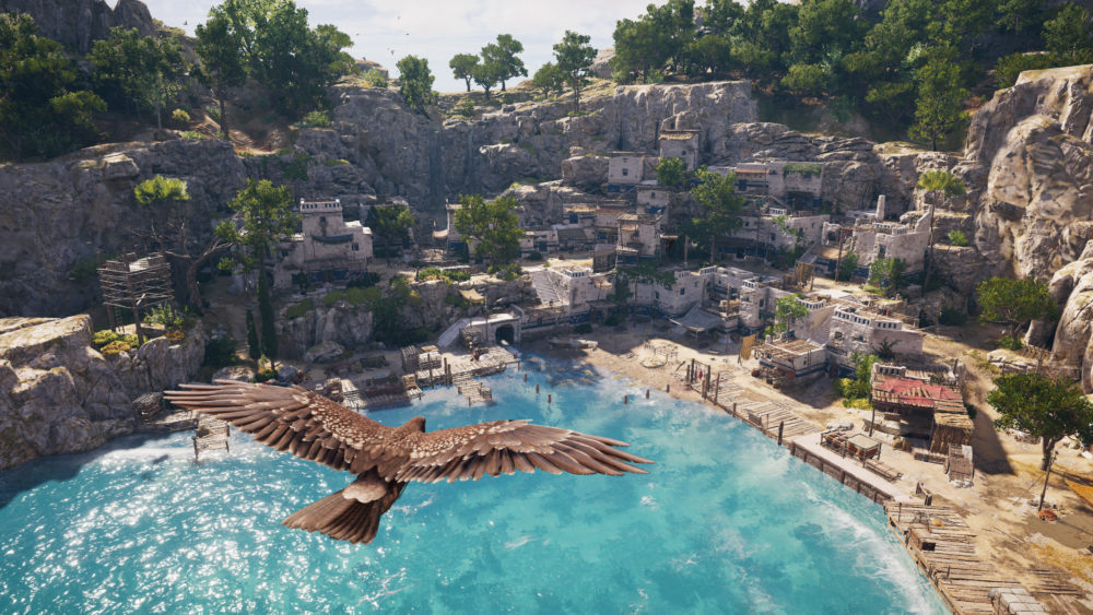 Assassin's Creed Odyssey, realistic-looking cities