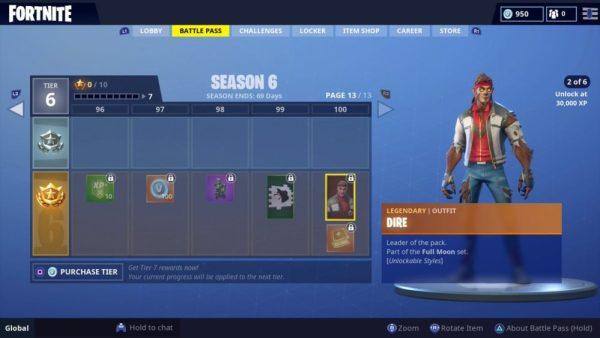 what level 30,000 XP is in Fortnite Season 6