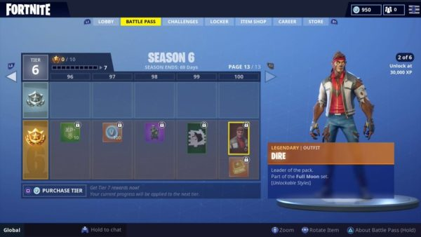 what level 30,000 XP is in Fortnite Season 6