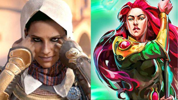Alix Wilton Regan as Aya (Assassin's Creed Origins) and Ariane (Runescape)