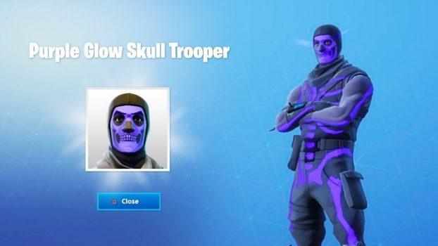Purple Glow Skull Trooper