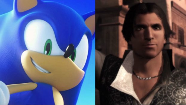 Roger Craig Smith as Sonic (Sonic the Hedgehog Series) and Ezio Auditore da Firenze (Assassin's Creed Series)
