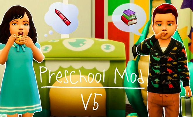 the sims 4 mods, preschool