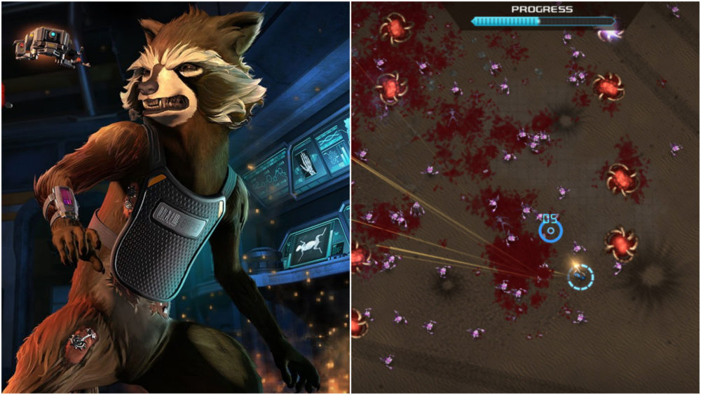 Crimsonland, Guardians of the Galaxy, telltale