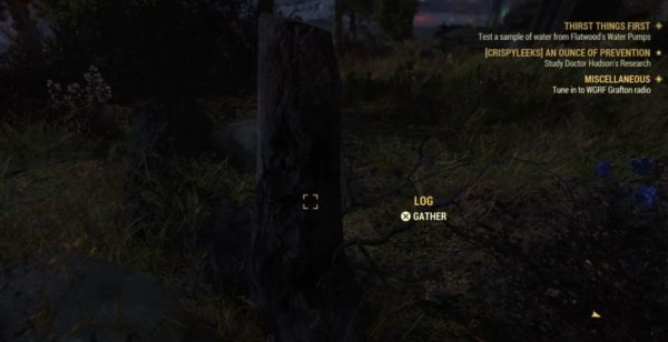 Fallout 76 how to get wood