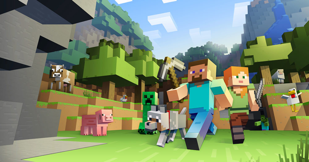 minecraft, cross-play, ps4, xbox one, switch, microsoft, movie adaptation