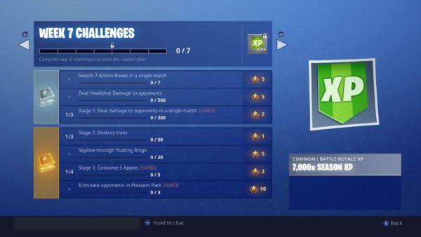 Fortnite week 7 challenges season 6