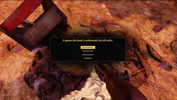 Fallout 76 undetonated bomb