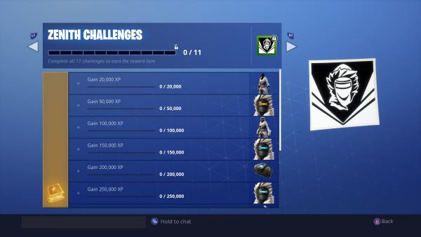 Fortnite Season 7 Zenith Challenges