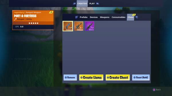 Fortnite Creative Mode, how to get weapons, how to get weapons in Fortnite Creative Mode