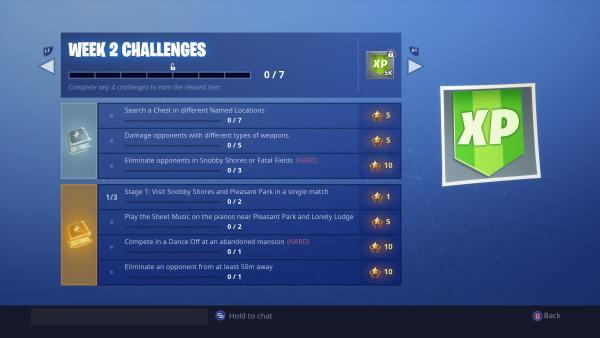 Fortnite Season 7 week 2 challenges