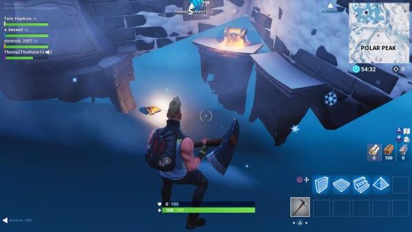 Fortnite, polar peak chest locations
