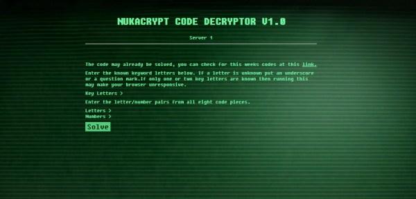 fallout 76 nukacrypt code decryptor