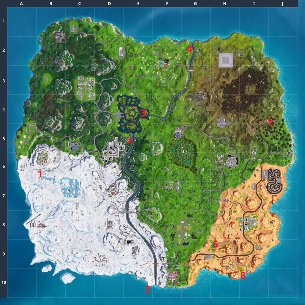 Fortnite waterfalls locations