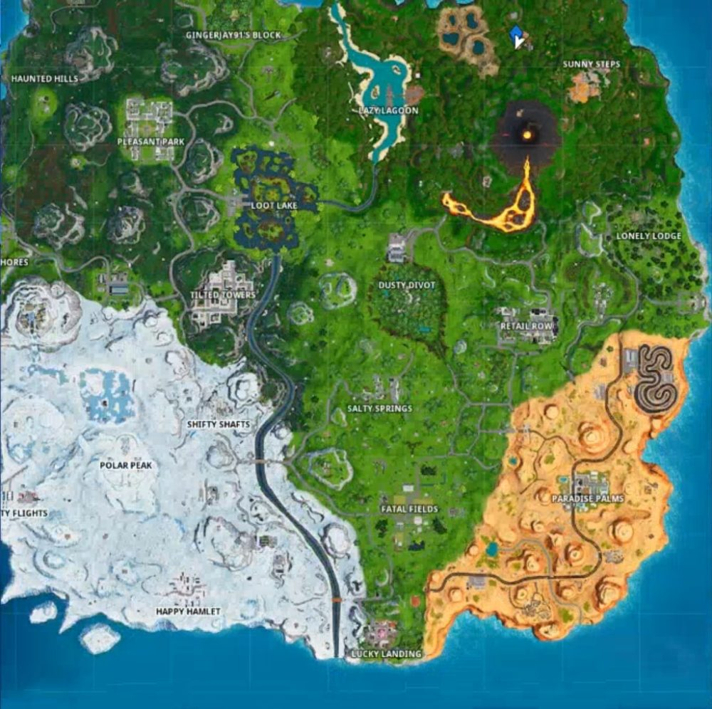 where to use volcano vent zipline and vehicle in single match of Fortnite easily