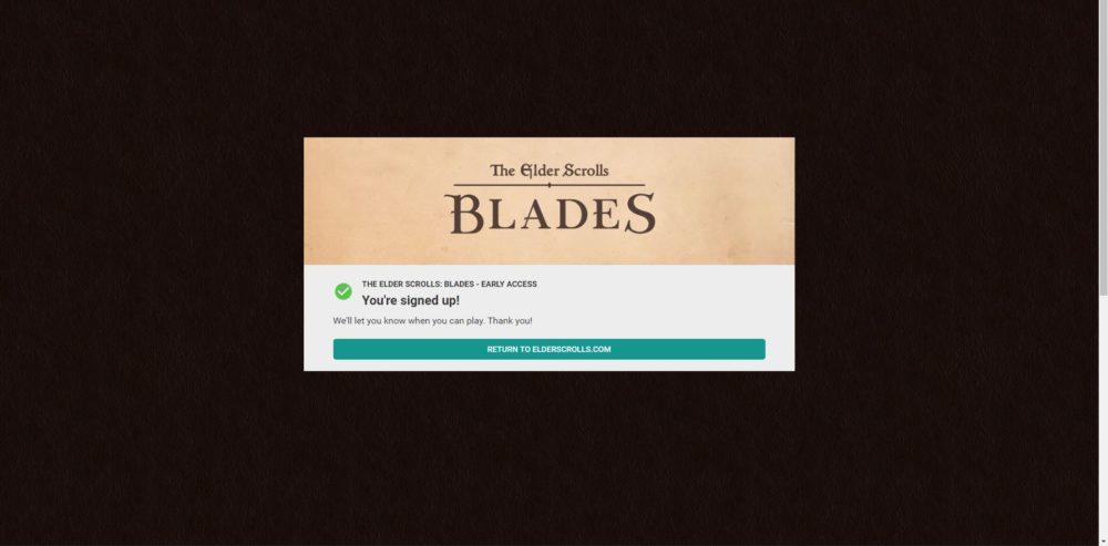 elder scrolls blades early access