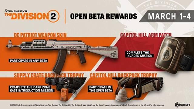division 2 beta rewards