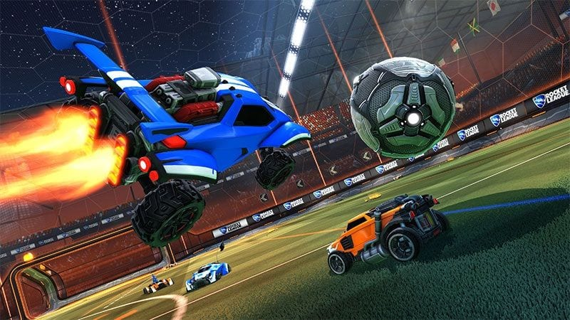 rocket league, best ps4 couch co op games, best ps4 local multiplayer games
