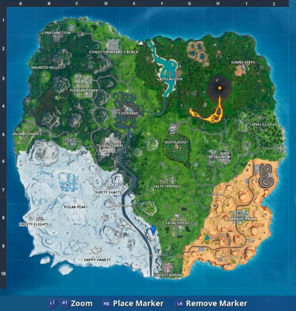 Fortnite Durrr Burger Phone Location Map