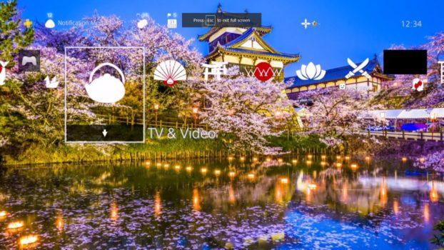 4K Amazing Japanes Sakura Garden Dynamic Theme