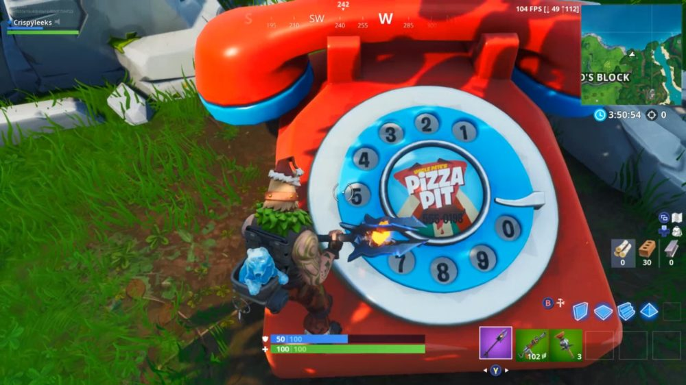 Fortnite Pizza Pit Big Telephone