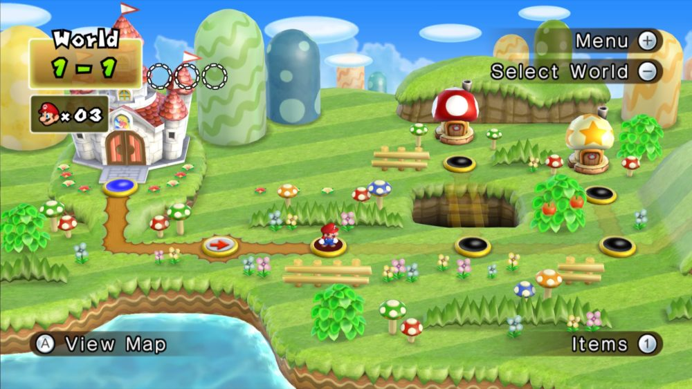 New Super Mario Bros. Wii Overworld