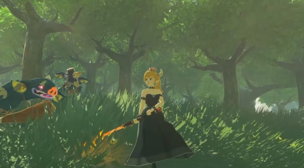 breath of the wild mods, bowsette