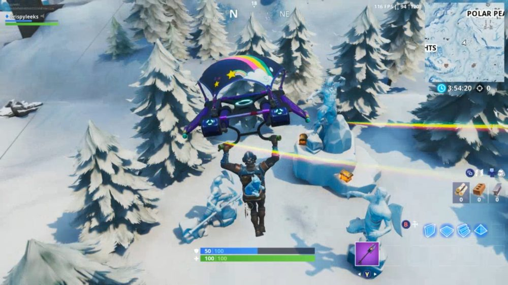 dance between three ice sculptures