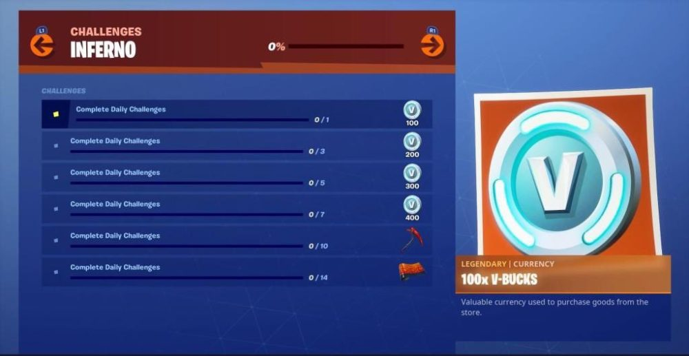 Fortnite Inferno Challenges