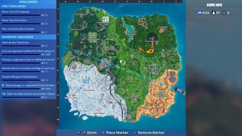 Fortnite, season 9, map