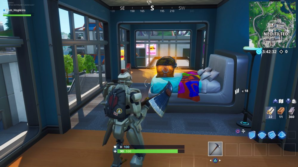 Fortnite, neo tilted, chest spawn locations