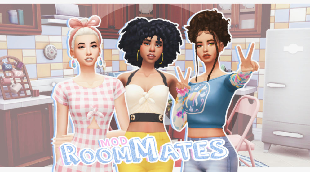 sims 4, mods, roommates, updated