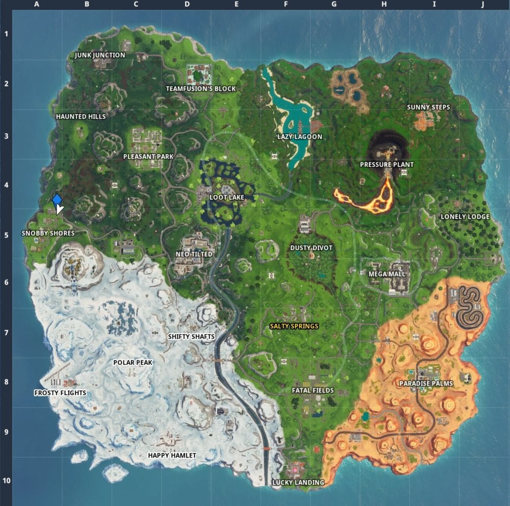 Fortnite Fortbyte 58 location