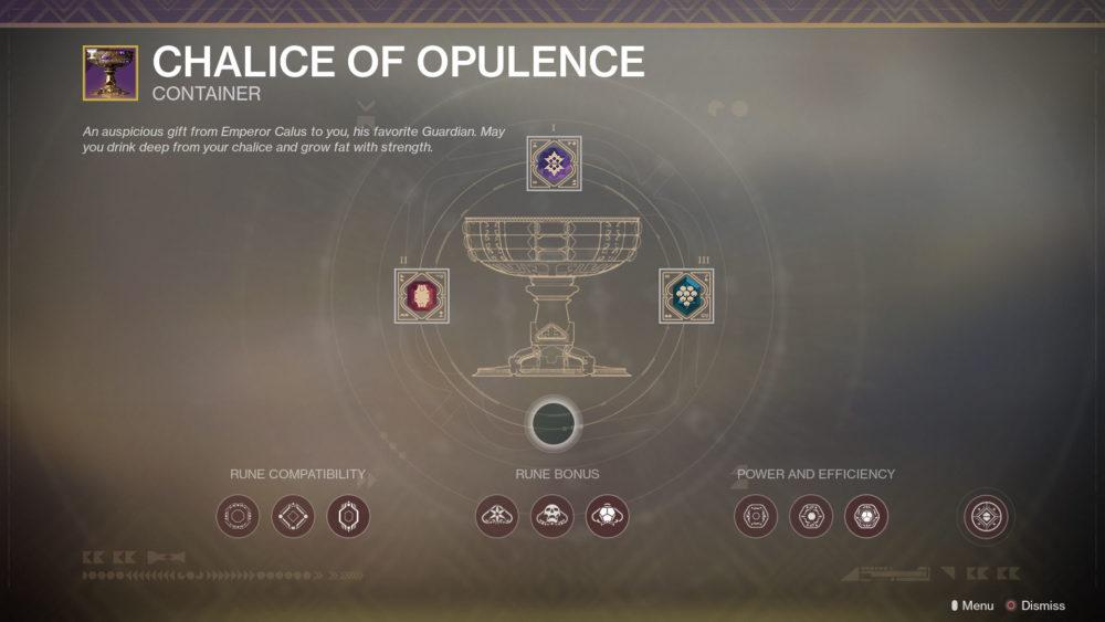 chalice of opulence, destiny 2