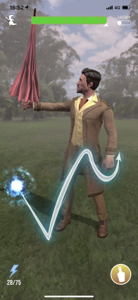 Harry potter wizards unite, spell energy