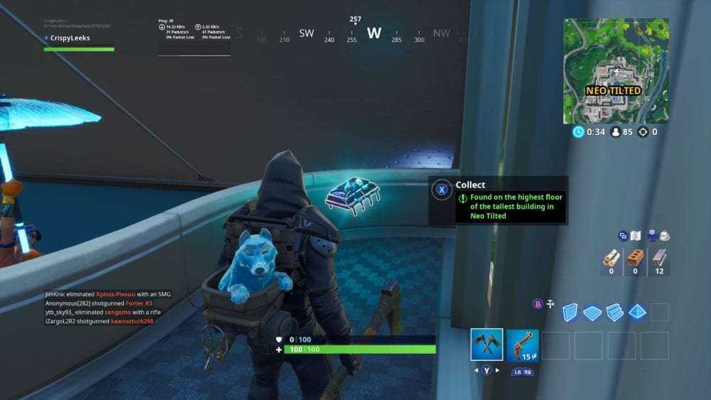 fortnite fortbyte 100 location